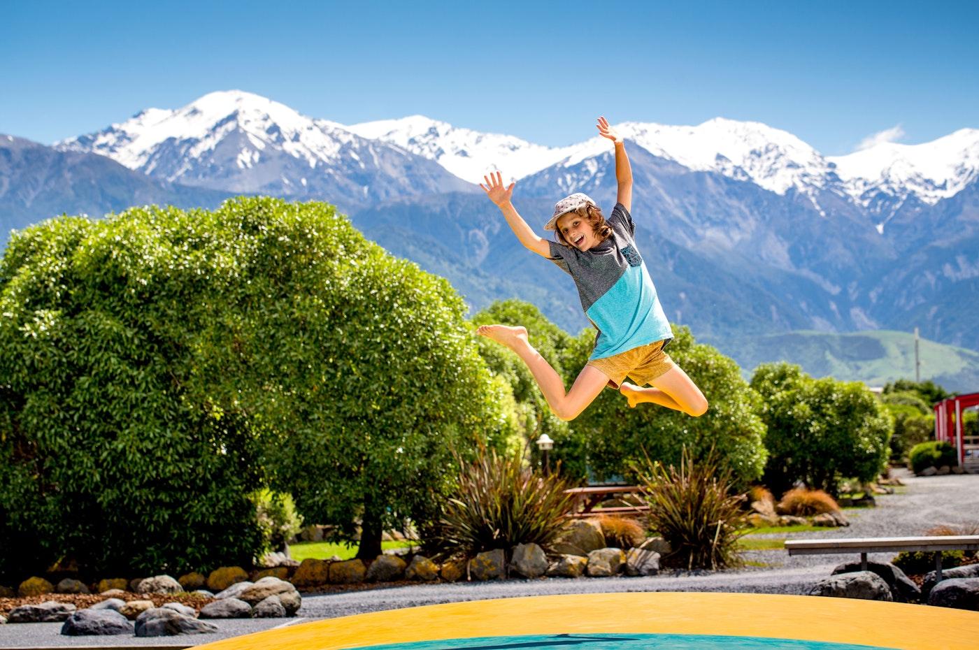 kaikoura holiday park jumping pillow