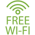 Free WiFi (250mb per day)